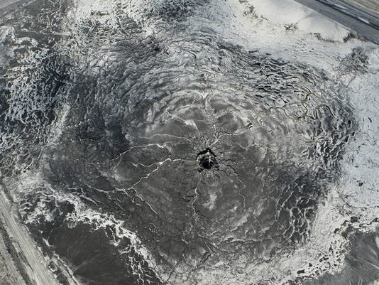 A sinhole draining into the Florida aquifer