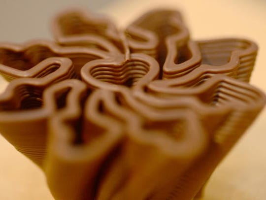 An image made with the 3D chocolate printer.