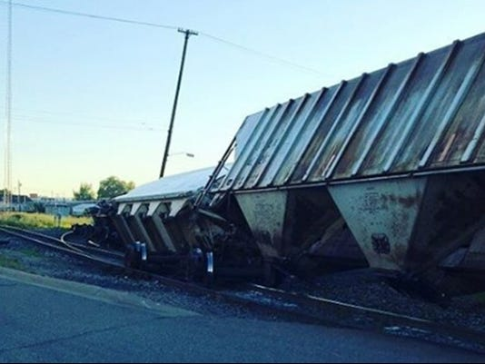 15 Cars Of Freight Train Derail In Downtown Kalamazoo
