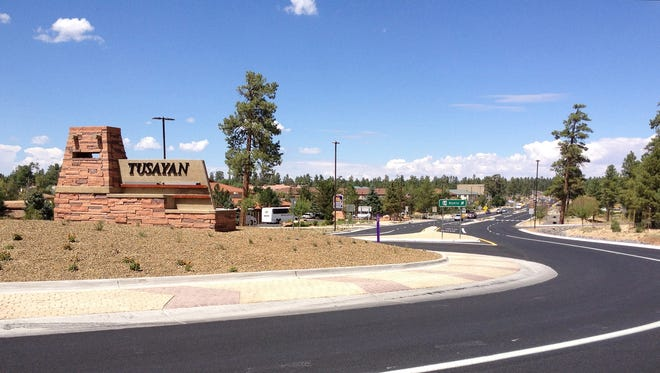 This August 2012 photo provided by the Arizona Department of Transportation shows Tusayan, which is just outside the entrance to the Grand Canyon's South Rim entrance.