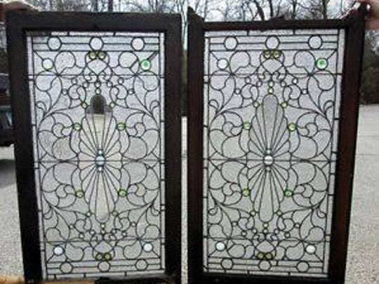 These are the windows stolen out of the home in Covington. They were recovered after local collector Carl Fox spotted them for sale on eBay.