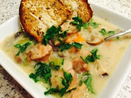 Sausage and mushroom soup