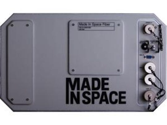 A mockup of Made In Space's microgravity-optimized,