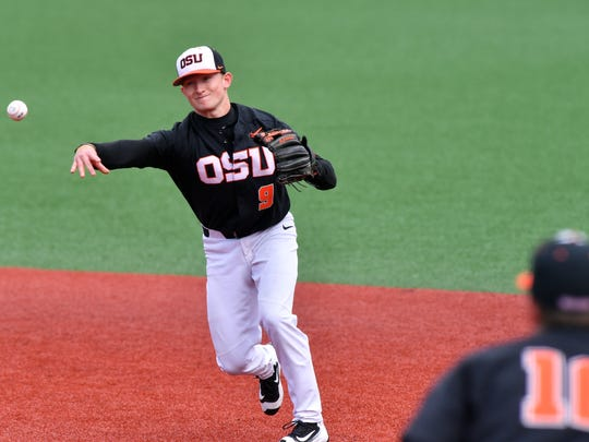 OSU second baseman Andy Armstrong, a sophomore from West Salem High School, has started 33 games this season.