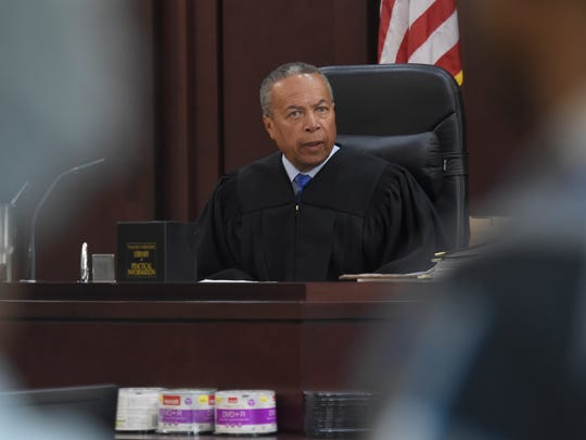Judge Monte Watkins speaks during the trial of Brandon E. Banks on Monday, June 19, 2017, at the Justice A. A. Birch Building in Nashville.