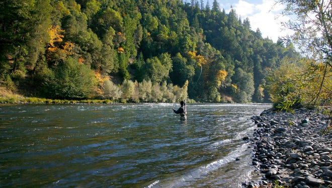 Fishing on the Rogue River.