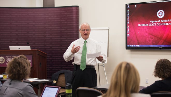 Paul Thompson, executive vice president and CEO of the Florida Home Builders Association, speaks at a recent TSAE workshop. Professional development for members is a primary goal of the organization.