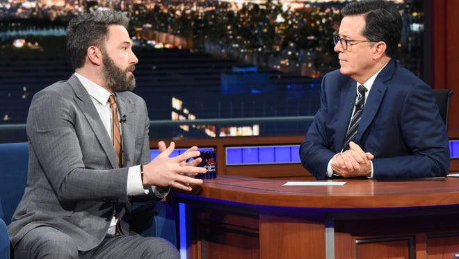 Ben Affleck appears on 'The Late Show with Stephen Colbert' Thursday.