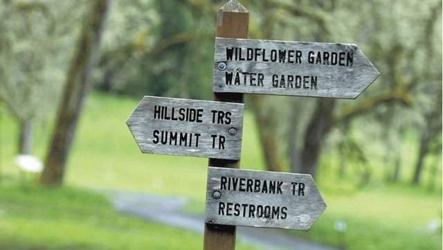 The summit trail, water garden and wildflower garden are popular places in the park.