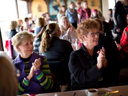 Karen Lavan, of Lakeport, and Gerri Barber, of Lexington,