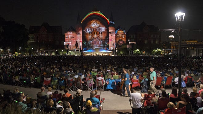 Last year, 12,500 people squeezed into the viewing area. This year, just 6,000 per show will be allowed.