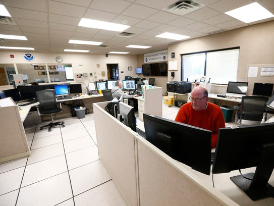 Meteorologists on staff at the National Weather Service