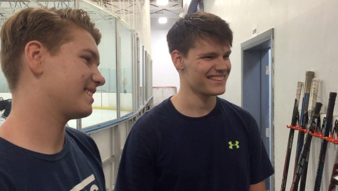 Jacob (left) and Joseph Welch are youth hockey players from the desert who were invited to play on a prestigious Junior A team in Washington, D.C.