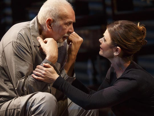 "Frank Langella and Kathryn Erbe in ""The Father."""