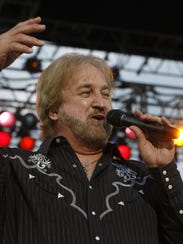 Duane Allen of the Oak Ridge Boys performing at the