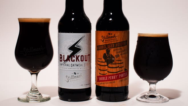 Blackout Oatmeal Stout and Double Perky Porter
