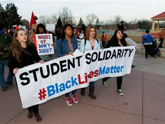 Denver students step off for protest
