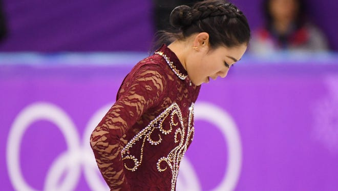 Mirai Nagasu's demeanor says it all after the short program in Pyeongchang.