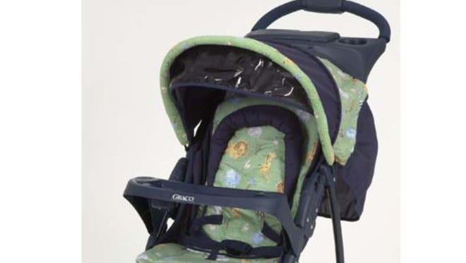 The Graco Breeze, pictured here, is one of 11 models of strollers being recalled.