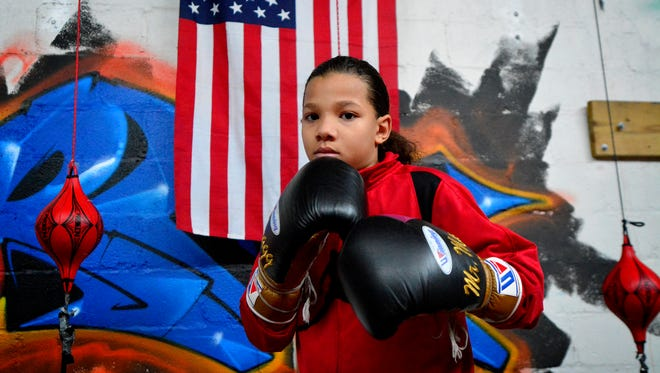 """After a recent three-round decision win, Antwoine """"Mr. Man"""" Dorm Jr., prepares for the upcoming regional boxing championship that will be held in Cleveland OH, Jan. 16.  (John A. Pavoncello - The York Dispatch)"""