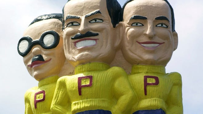 File photo taken in 2003 shows the Pep Boys - Manny, Moe % Jack, at the auto service chain's location in West Philadelphia.