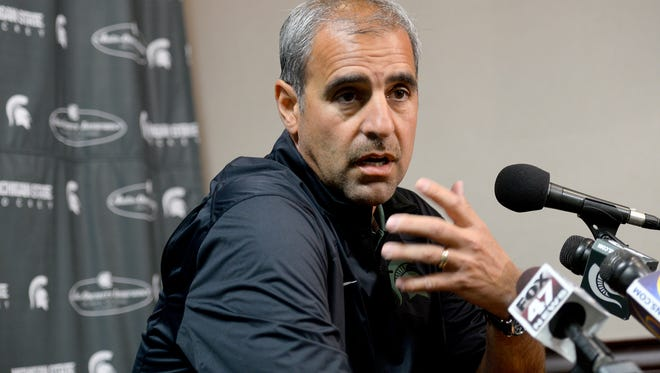 Michigan State announced on Tuesday that head hockey coach Tom Anastos will step down immediately.