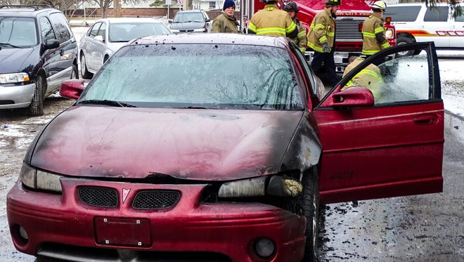 Firefighters responded to a vehicle fire Friday morning.