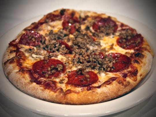 The pepperoni and sausage pizza is among the many items
