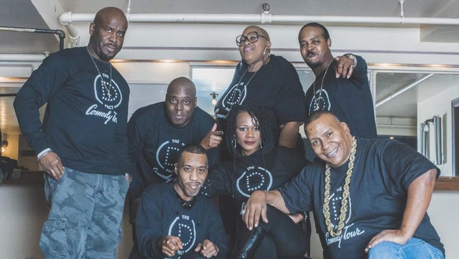 Legendary Detroit stand-up comedians Mike Bonner, left, Howie Bell, Josh Adams, Karen Addison, CoCo, Martini Harris, Bill Hill, and others will tour as D-Pact on Thursday at the Wright Museum.