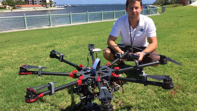 Cody Patton, owner of Pensacola-based aerial cinematography company Bird Eye Productions.