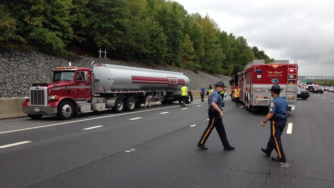 An accident involving a fuel tanker has closed most of southbound I-95 near Stanton.