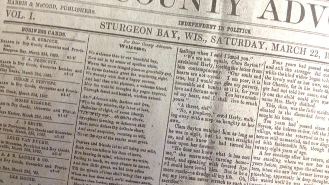 Door County Advocate archives: Looking back 75, 100, 125 and 150 years ago.