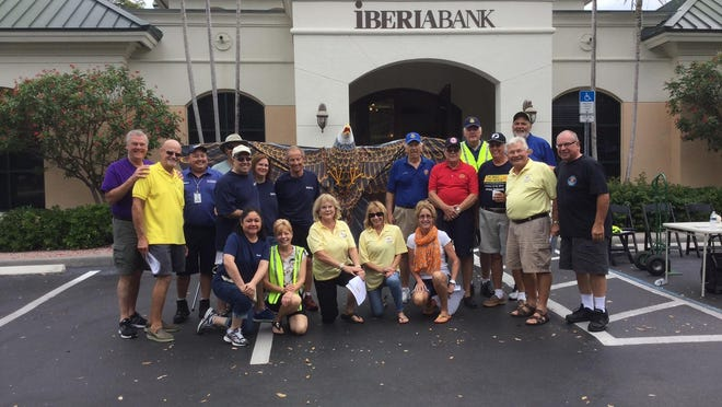 Marco Eagle Foundation and Iberiabank volunteers stop for a photo at the most recent Shred Party on Marco Island which raised $2,250 for the local non-profit.