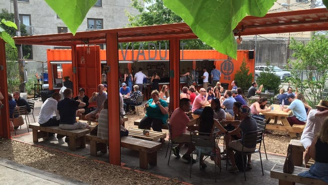 The beer garden at Viaduct Rail Park is the newest addition to Philadelphia's list of beer gardens and pop-up parks.