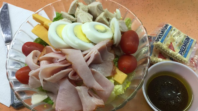 Half chef salad ($6.95) at Don's Sandwich Shop
