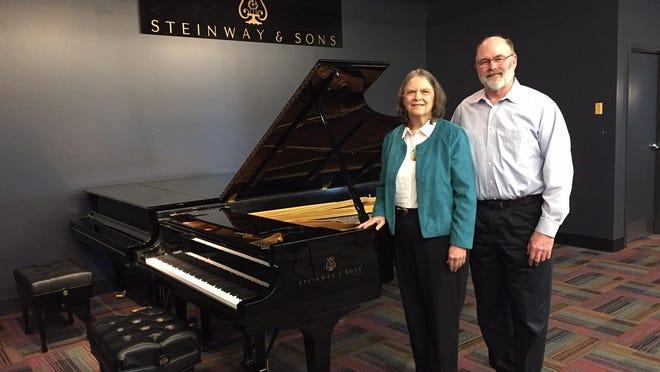 Piano-a-thon founders Elaine and Jack Thompson of Bath.