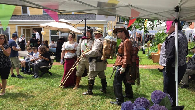 A scene from the Brick Store Museum's Southern Maine Steampunk Fair 2019.