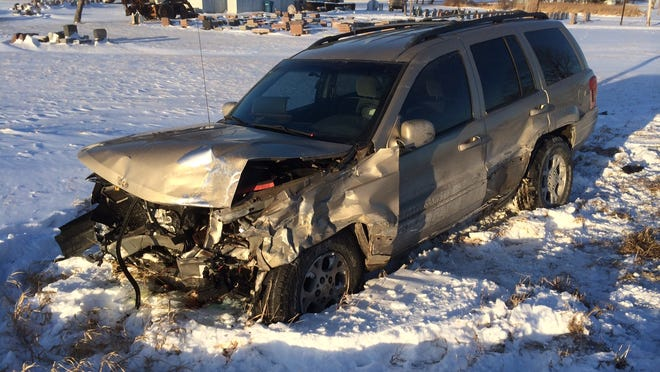 two people were seriously injured in a head-on crash.