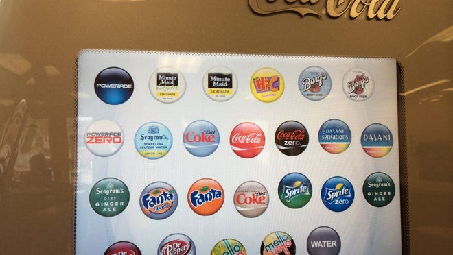 The home screen of the Coca-Cola Freestyle machine at Wendy's in Muncie.
