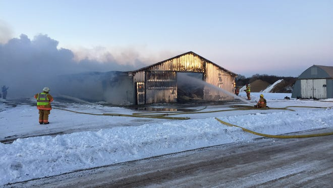 A blaze destroyed a 40-by 200-foot turkey barn Thursday morning north of St. Joseph, said St. Joseph Fire Chief Jeff Taufen.