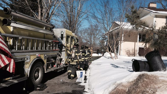 Flames damaged the basement of a house on Loder Road late Friday morning. No one was hurt.