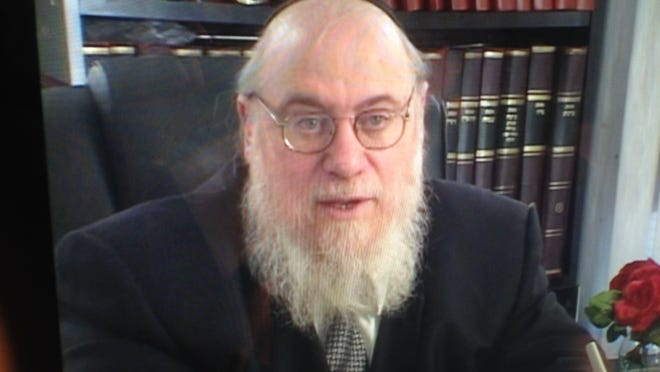 "Rabbi Mendel Epstein from a screen grab from the 2011 documentary ""Women Unchained."""