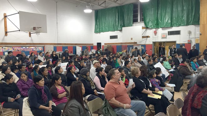 Local residents show up to attend the East Ramapo school board meeting in November, 2014.