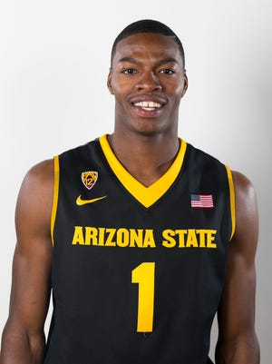 ASU guard Roosevelt Scott during ASU Basketball Media Day at the Weatherup Practice Facility in Tempe on Thursday, October 2, 2014.