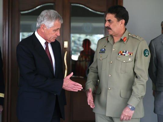 Chuck Hagel, Gen. Raheel Sharif