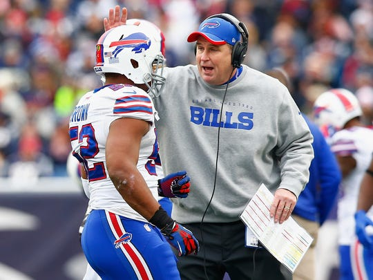 Doug Marrone had a 15-17 record in his two years as the Bills coach.