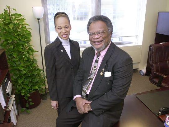 Former NAACP president Charles E. Brittingham and Lisa