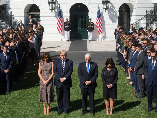 President Donald Trump, First Lady Melania Trump, Vice