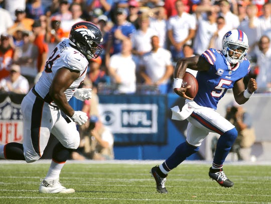 Tyrod Taylor continues to have problems with his accuracy, and it was part of the offensive problems in the loss to Cincinnati.