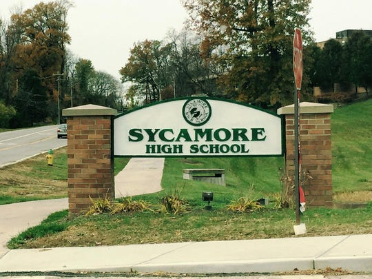 Sycamore High School sign